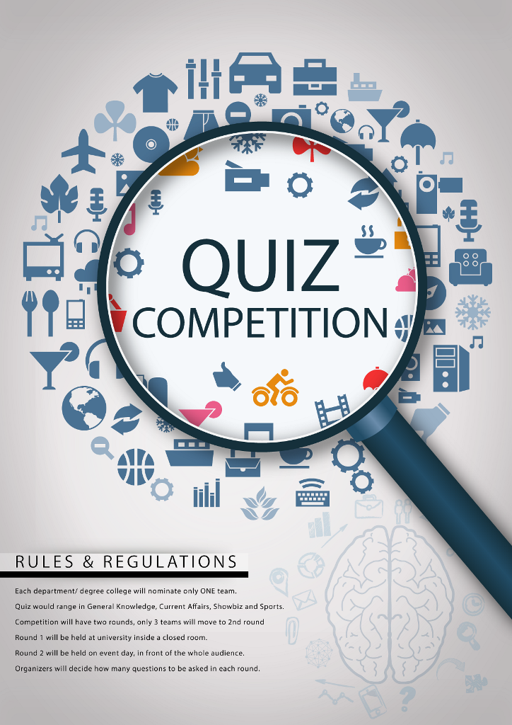 essay quiz competition This competition shall be conducted only online through web portalwwwpcracompetitionsorg and on ground activation there after it is mandatory for the schools to conduct the competitions in school premises in a fair manner it is requested that all eligible (maximum number of) students take the online quiz, as it will add to their knowledge.